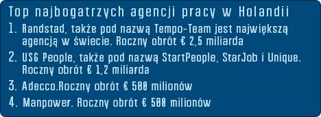 największe agencje pracy w NL