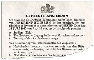 Obwieszczenie burmistrza Amsterdamu