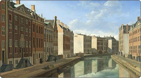 amsterdamski kanał w roku 1672