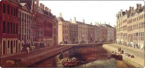 amsterdamski kanał w roku 1685