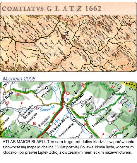 350 lat roznicy Blaeu-Michelin