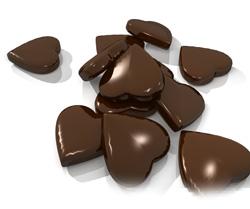 serduszka z czekolady