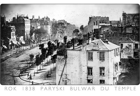 1836 zdjęcie paryskiego bulwaru