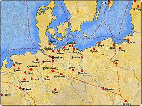 większe miasta hanzeatyckie