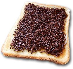 kanapka z czekoladą  hagelslag