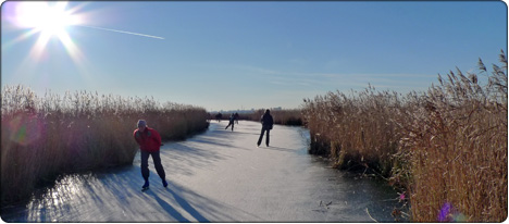 łyżwiarstwo na naturalnym lodzie w Holandii
