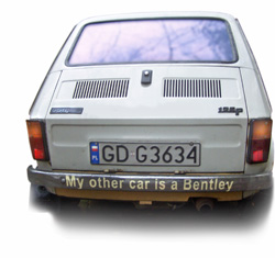 mój drugi samochód jest Bentley