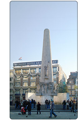 monument w Amsterdamie