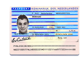 paszport holenderski 2001