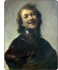 Rembrandt - śmiejący się filozof