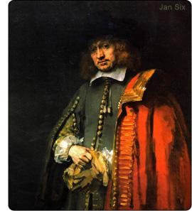 Rembrandt - portret Jan Six