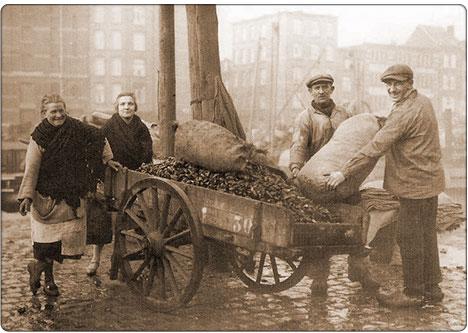 sprzedawca małż w Rotterdamie
