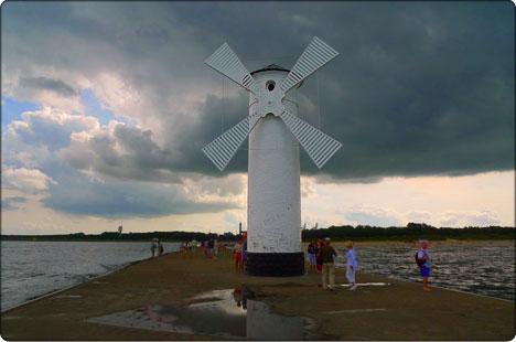 wiatrak w Świnoujściu