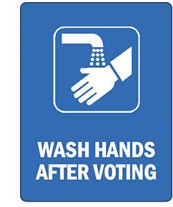 umyj ręce po wyborach